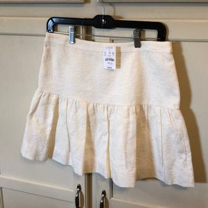 NWT J.Crew Off White Tapestry Skirt In Size 4